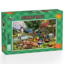 Load image into Gallery viewer, Holiday Days - Camping 1000 piece Jigsaw Puzzle Funbox
