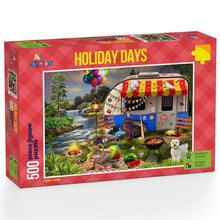 Load image into Gallery viewer, Holiday Days - Caravanning 500 piece Jigsaw Puzzle Funbox
