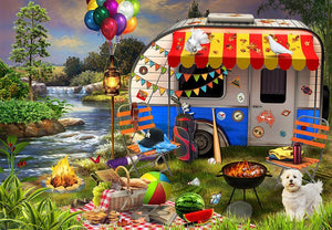 Holiday Days - Caravanning 500 piece Jigsaw Puzzle Funbox