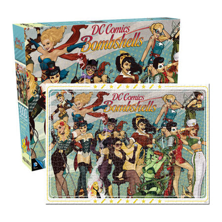 DC Comics - DC Bombshells Collage 1000 piece Jigsaw Puzzle Aquarius