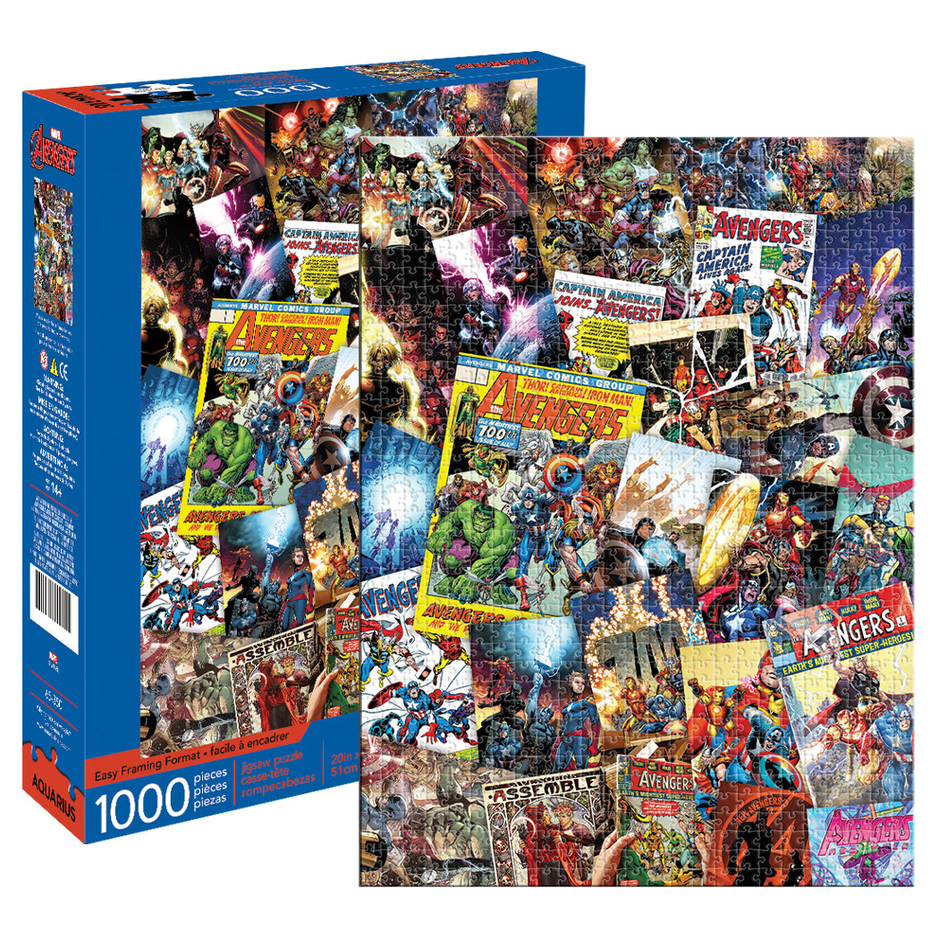 Marvel - Avengers Comics Collage 1000 piece Jigsaw Puzzle Aquarius