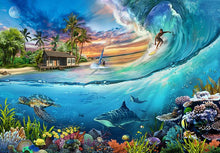 Load image into Gallery viewer, Surf Is Up! 500 piece Jigsaw Puzzle Funbox