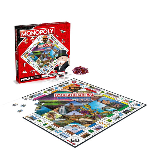 Australian Community Relief - Monopoly 1000 piece Jigsaw Puzzle Winning Moves