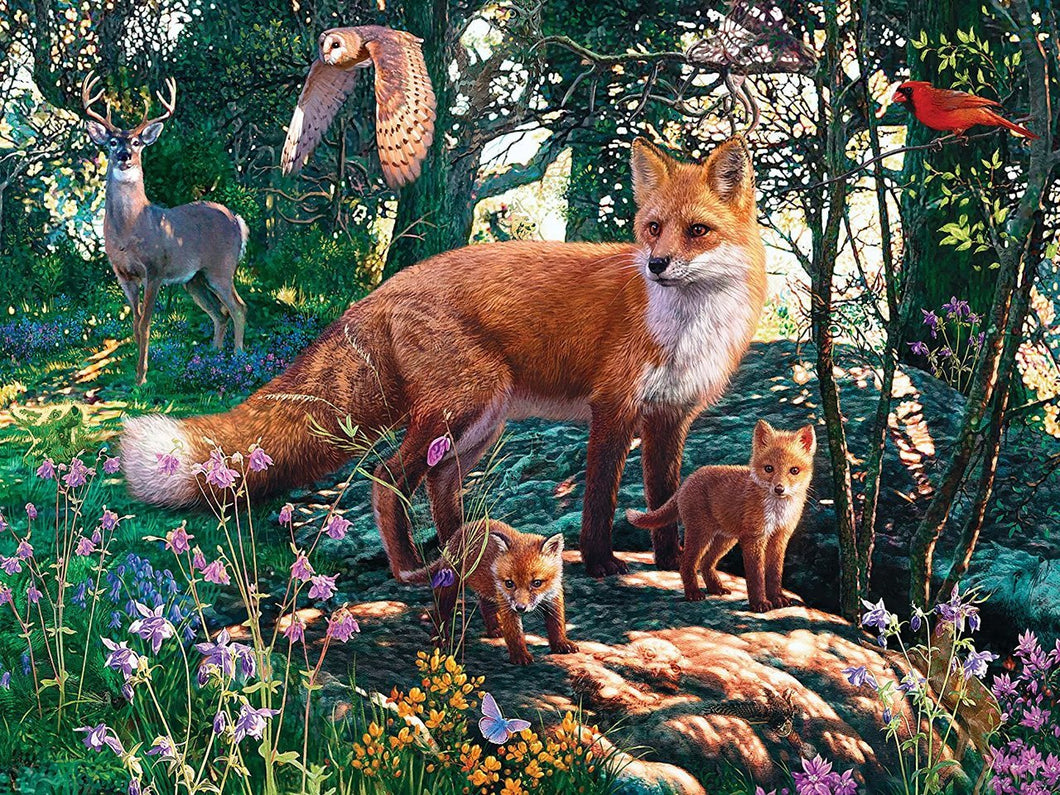 Hidden Image Glow - The Woodlands 500 piece Jigsaw Puzzle Masterpieces