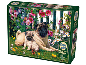Pug Family 1000 Piece Jigsaw Puzzle Cobble Hill