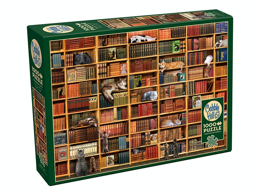 Cat Library 1000 Piece Jigsaw Puzzle Cobble Hill
