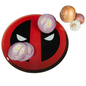 Deadpool - Deadpool Logo 33cm Diameter Glass Cutting Board