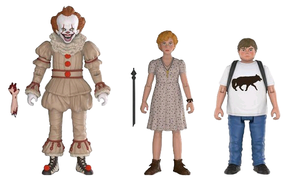 "IT (2017) - Pennywise, Beverly & Ben 3.75"" Set of 3 Collectible Action Figure Funko"