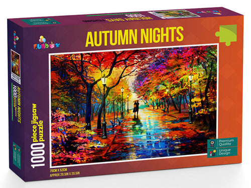 Autumn Nights 1000 piece Jigsaw Puzzle Funbox