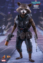 Load image into Gallery viewer, Guardians of the Galaxy Vol. 2 - Rocket Raccoon Deluxe MMS411 1/6 Scale Collectible Articulated Figure Hot Toys