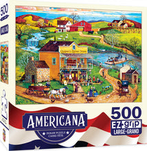 Load image into Gallery viewer, Americana by Bob Pettis - Cooper's Corner Ez Grip 500 piece Jigsaw Puzzle Masterpieces
