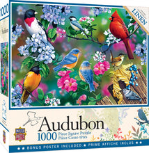 Load image into Gallery viewer, Audubon - Songbird Collage 1000 piece Jigsaw Puzzle Masterpieces