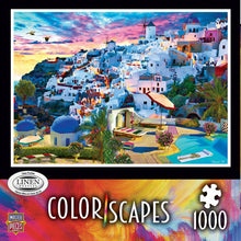Load image into Gallery viewer, Colorscapes Linen - Santorini Sky 1000 piece Jigsaw Puzzle Masterpieces