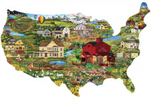 Load image into Gallery viewer, Contours - United States Shaped 1000 piece Jigsaw Puzzle Masterpieces