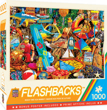 Load image into Gallery viewer, Flashbacks - Beach Time Flea Market 1000 piece Jigsaw Puzzle Masterpieces