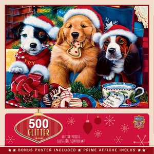 Holiday Glitter - Santa Paws 500 piece Jigsaw Puzzle Masterpieces