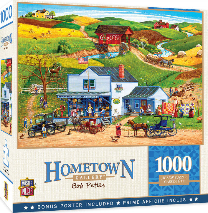 Hometown Gallery - McGiveny's Country Store 1000 piece Jigsaw Puzzle Masterpieces