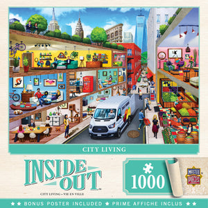 Inside Out - City Living 1000 piece Jigsaw Puzzle Masterpieces