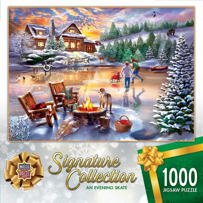 Signature Collection Holiday - An Evening Skate 1000 piece Jigsaw Puzzle Masterpieces