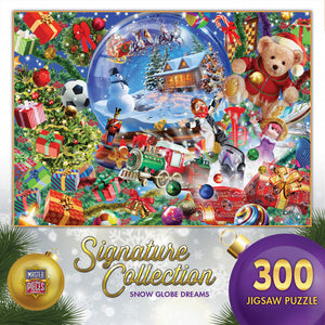 Signature Collection Holiday - Snow Globe Dreams 300 piece Jigsaw Puzzle Masterpieces