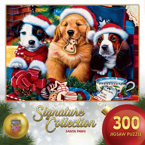 Signature Collection Holiday - Santa Paws 300 piece Jigsaw Puzzle Masterpieces