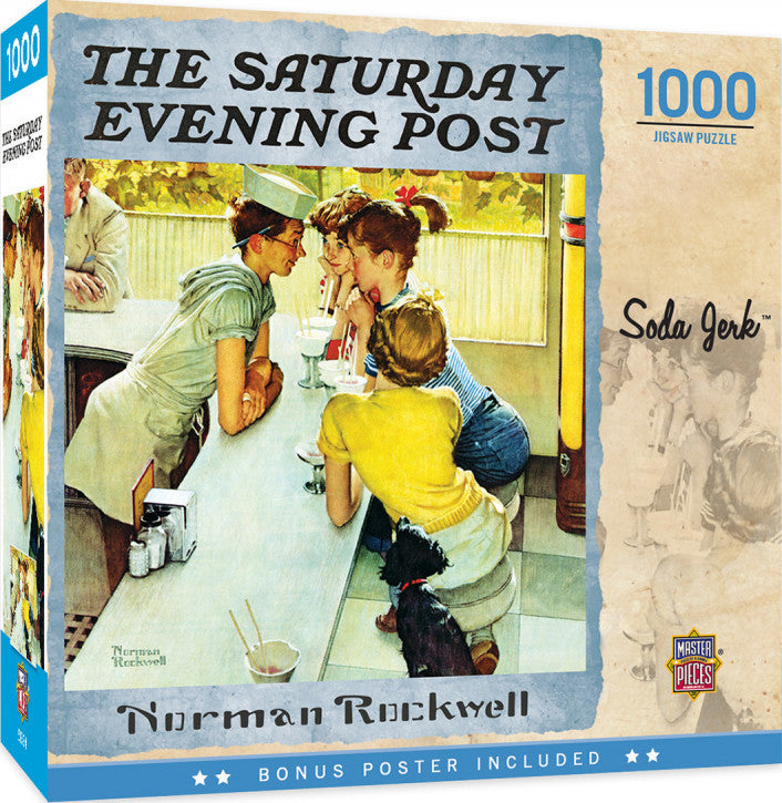 Saturday Evening Post Norman Rockwell - Soda Jerk 1000 piece Jigsaw Puzzle Masterpieces