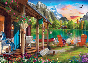 Time Away - Evening on the Lake 1000 piece Jigsaw Puzzle Masterpieces