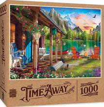 Load image into Gallery viewer, Time Away - Evening on the Lake 1000 piece Jigsaw Puzzle Masterpieces