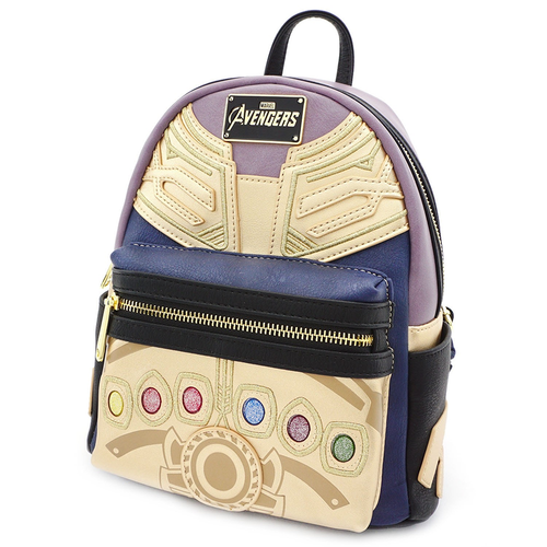 "Avengers 3 Infinity War - Thanos 10"" Faux-Leather Mini Backpack Loungefly"
