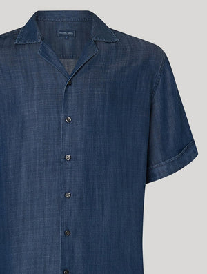 Short Sleeve Tencel Camp Collar Shirt