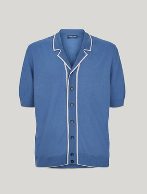 Knitted Merino Camp Collar Shirt