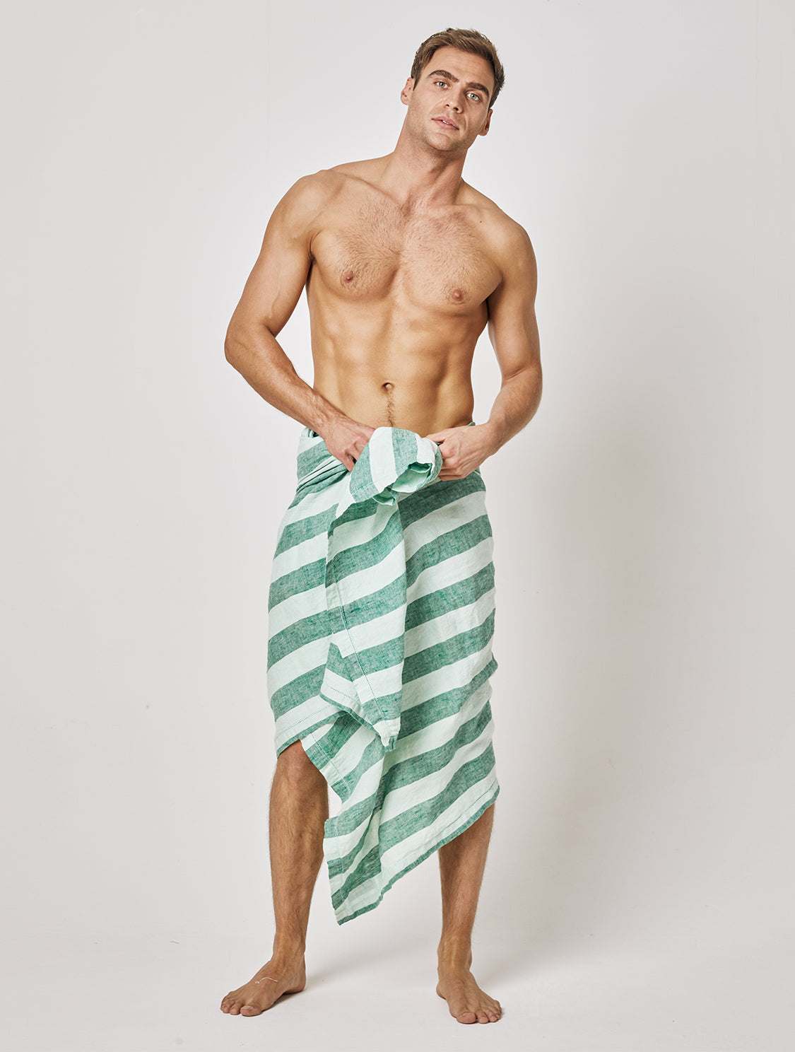 Large Striped Linen Towel