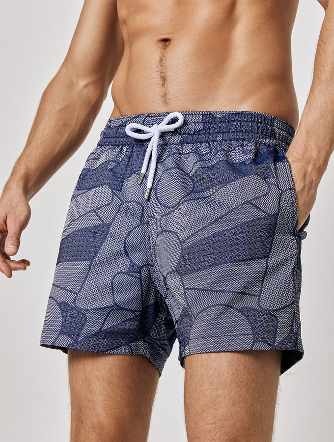 Profile-Jacquard Sport Swim Shorts