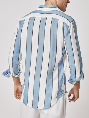 ANTONIO SHIRT WIDE STRIPE PRINT