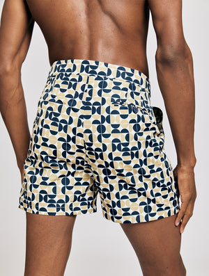 TAILORED SWIM SHORTS SHADE PRINT