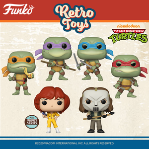 Teenage Mutant Ninja Turtles Retro Funko Pop! Bundle of 6