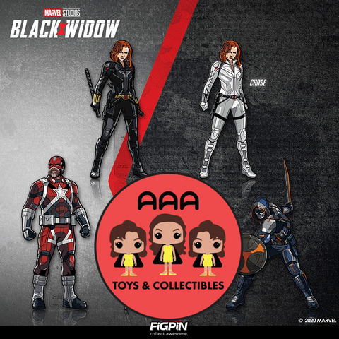 FiGPiN Classic: Black Widow - Bundle of 4 (With Chase) (#398, #399, #401, #402)