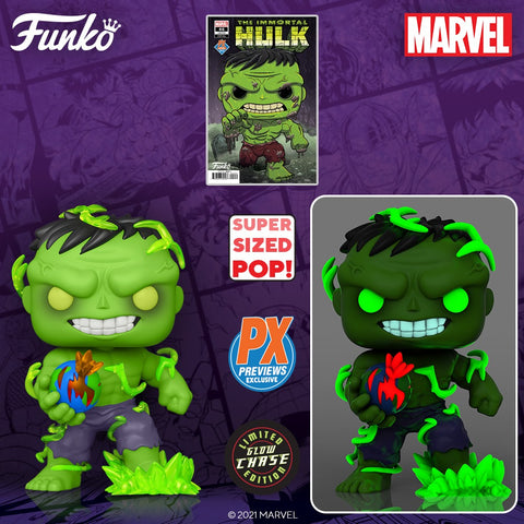 Marvel Super Heroes Immortal Hulk 6-Inch Pop! Vinyl Figure and Variant Comic - Previews Exclusive