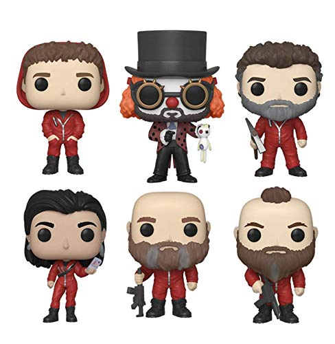 Funko Pop! Bundle of 6: La Casa de Papel - Helsinki, Oslo, El Profesor, Nairobi, Rio and Moscu