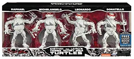 Teenage Mutant Ninja Turtles Ninja Elite Black and White Action Figure 4-Pack - FCBD 2021 Previews Exclusive