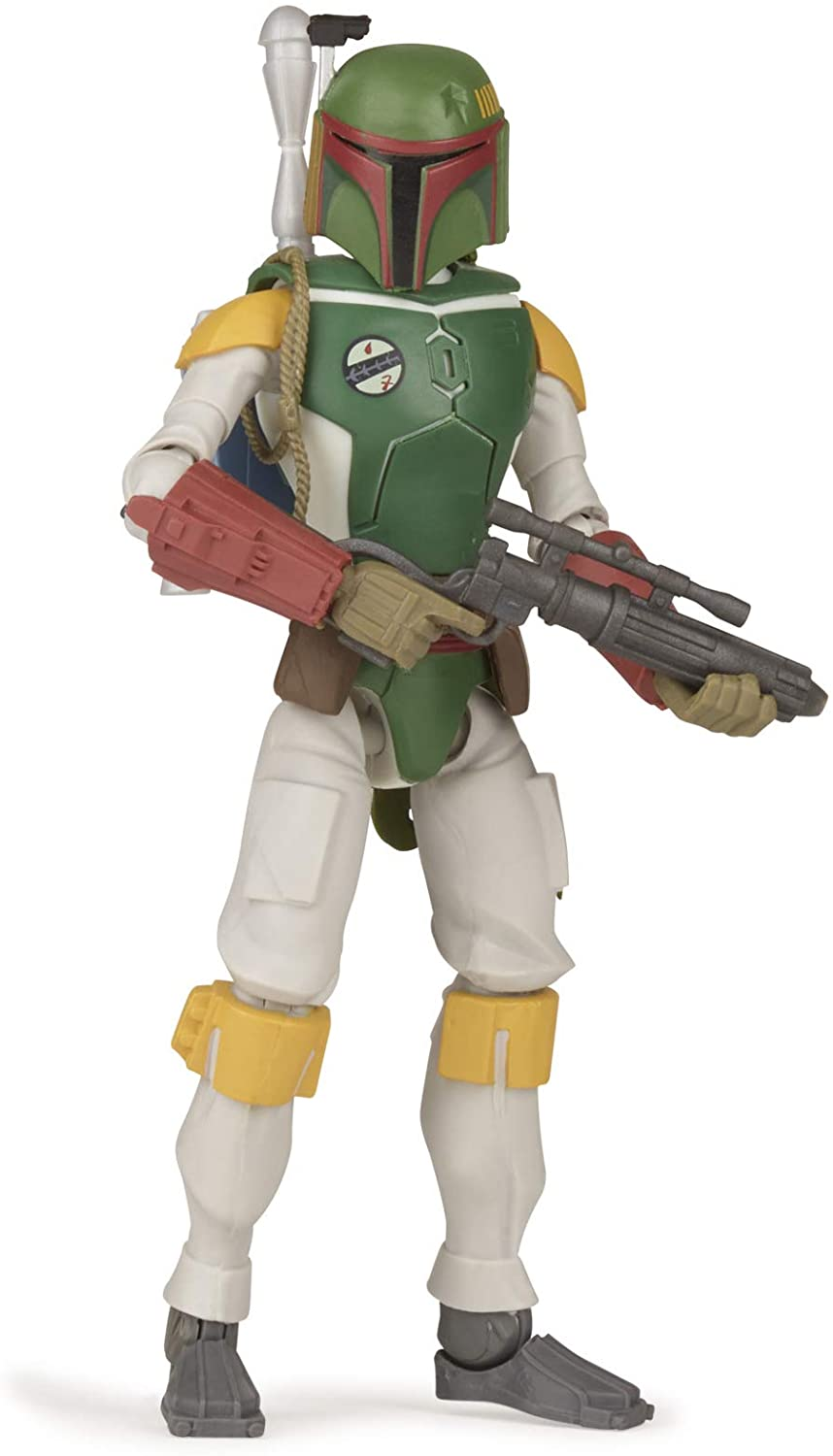 Star Wars Galaxy of Adventures Boba Fett Toy 5-inch Scale Action Figure with Fun Projectile Feature