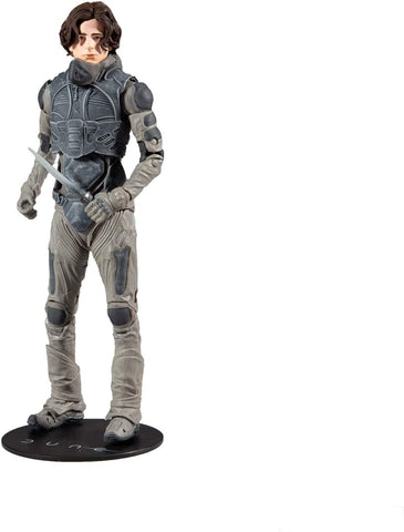McFarlane Toys Dune Paul Atreides 7-inch Action Figure with Build-A Glossu 'Beast' Rabban Figure Parts