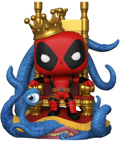 Pop! Deluxe Marvel Heroes King Deadpool on Throne Vinyl Figure - Previews Exclusive