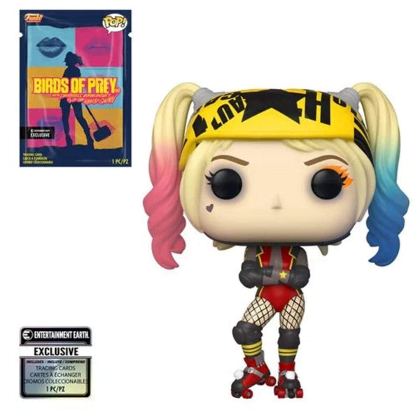 Birds of Prey Harley Quinn Roller Derby Pop! Vinyl Figure with Collectible Card - Entertainment Earth Exclusive