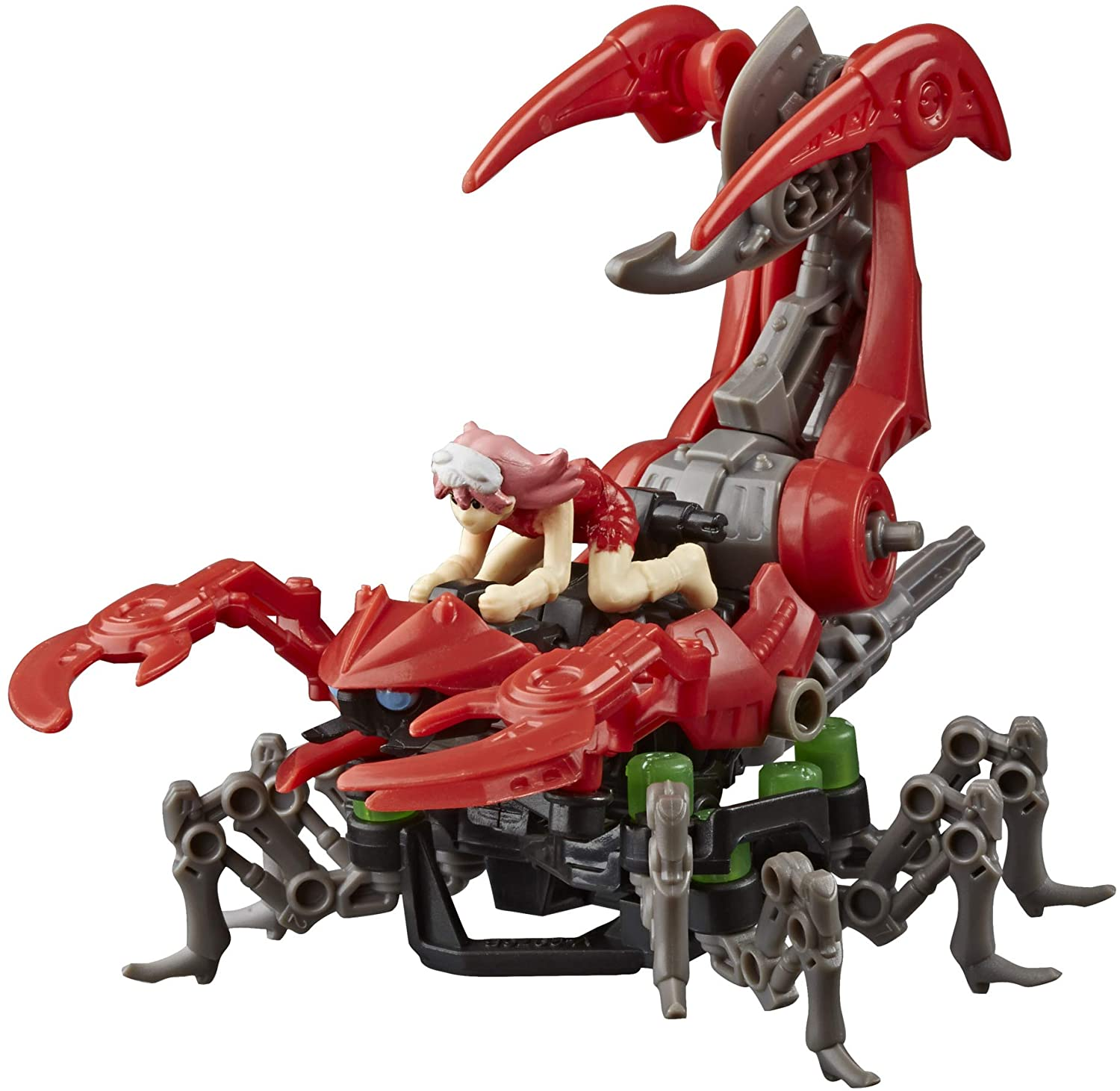 ZOIDS Hasbro Mega Battlers Needle - Scorpion-Type Buildable Beast Figure with Wind-Up Motion - Toys for Kids Ages 8 and Up, 33 Pieces