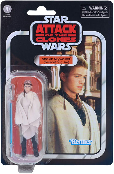Star Wars The Vintage Collection Anakin Skywalker (Peasant Disguise) Toy, 3.75-Inch-Scale Attack of The Clones Action Figure