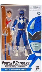 Power Rangers Lightning Collection Mighty Morphin Blue Ranger 6-Inch Premium Collectible Action Figure Toy