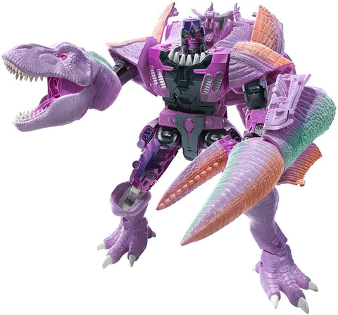 Transformers Toys Generations War for Cybertron: Kingdom Leader WFC-K10 Megatron (Beast) Action Figure - Kids Ages 8 and Up, 7.5-inch