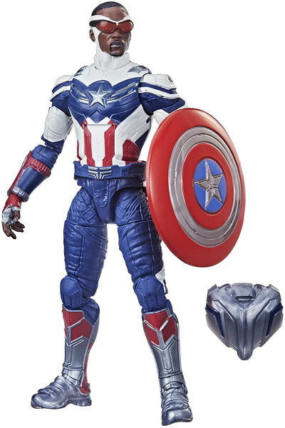 Avengers Hasbro Marvel Legends Series 6-inch Action Figure Toy Captain America: Sam Wilson Premium Design and 2 Accessories