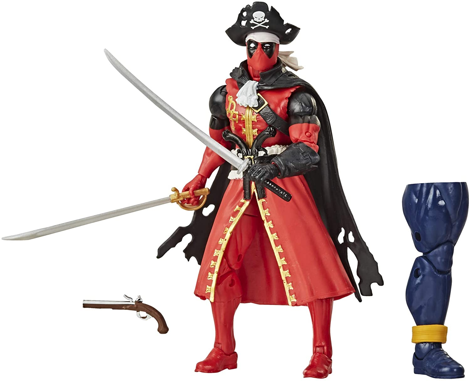 Hasbro Marvel Legends Series 6-inch Deadpool Collection Deadpool Action Figure (Pirate) Toy Premium Design and 3 Accessories